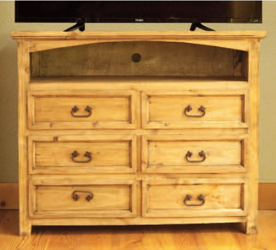 Rustic 6 Drawer TV Stand