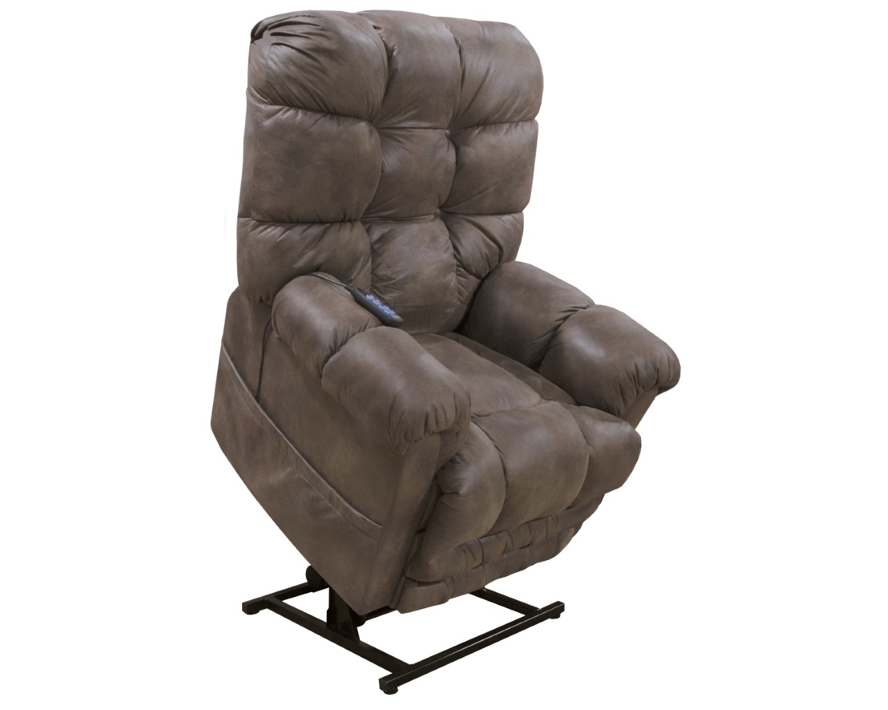 "Click photo for details • The Oliver power lift recliner by Catnapper® features: 400LB weight capacity. Steel seat box. Dual motor. Extended ottoman. Polyester • 40""W x 42""D x 42""H • $1,089.99"